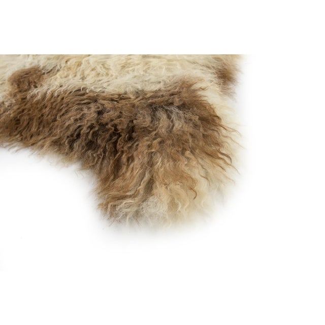 """2010s Contemporary Long Soft Wool Sheepskin Pelt Rug - 2'0""""x3'7"""" For Sale - Image 5 of 7"""