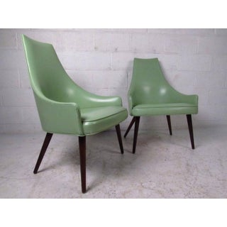 Mid-Century Highback Armchairs - a Pair Preview