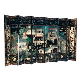 Gorgeous Twelve Panel Chinese Coromandel Screen For Sale