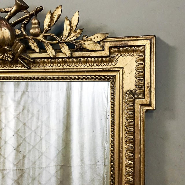 19th Century French Louis XVI Style Gilded Mirror For Sale In Dallas - Image 6 of 12