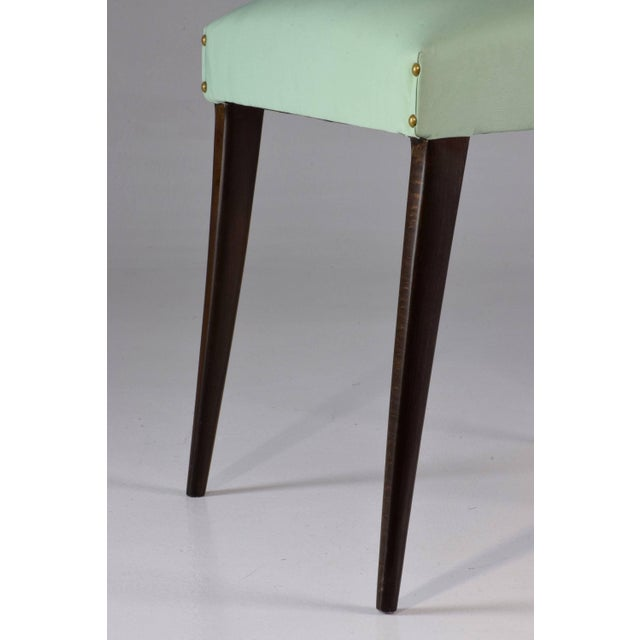 Italian Vintage Dining Chairs Attributed to Guglielmo Ulrich, Set of Six, 1940s For Sale - Image 6 of 13