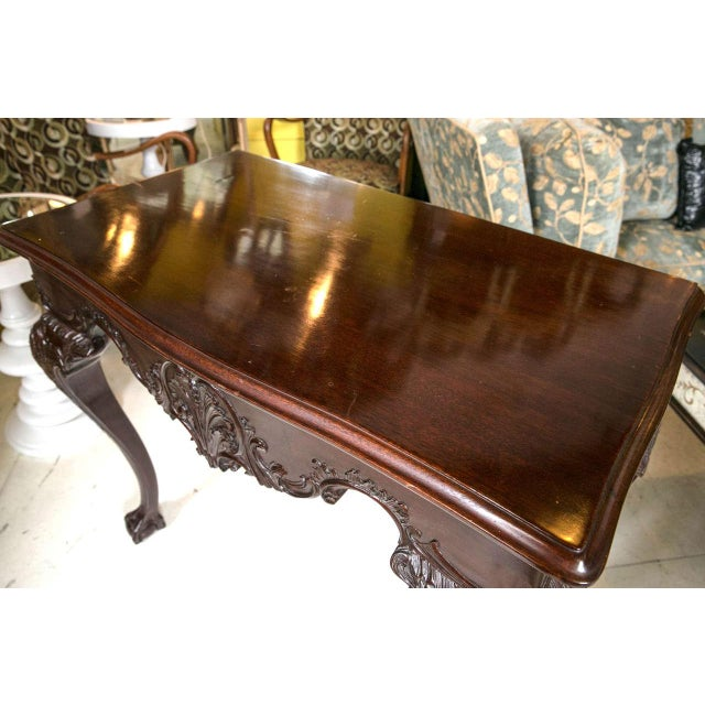 English Georgian Mahogany Console Tables - A Pair For Sale - Image 9 of 10