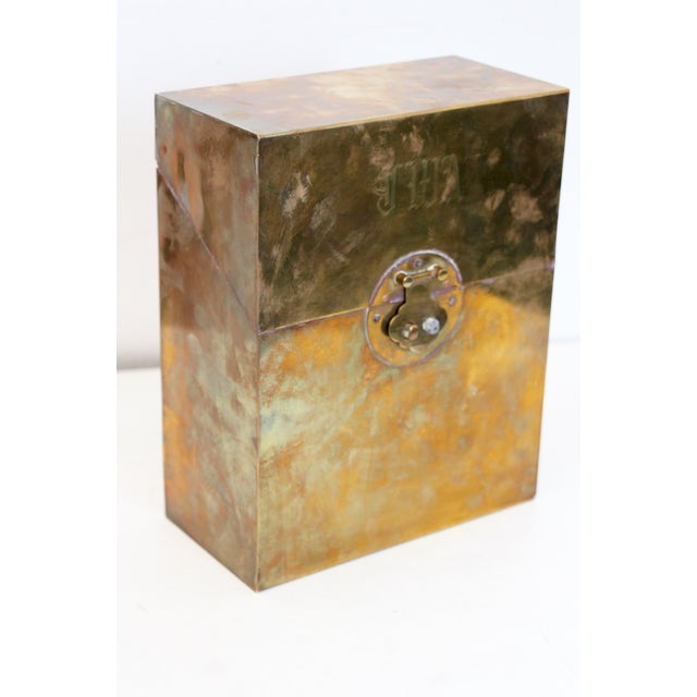 Monogrammed Brass Letter Box For Sale - Image 4 of 7