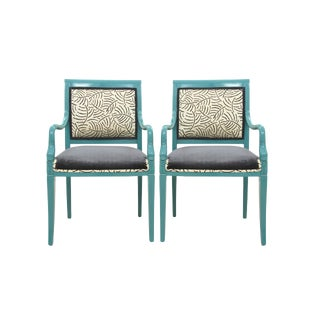 Chinoiserie Dolphin Accent Chairs - A Pair