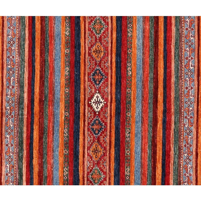 """1990s Modern Handwoven Turkmenistan Rug - 8'2"""" x 11'8"""" For Sale - Image 5 of 6"""