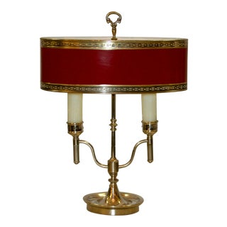 English Style Silver Bouillotte Lamp For Sale