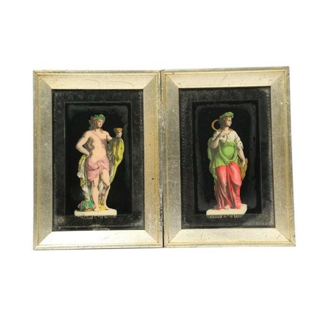 Hollywood Regency Frammed Romans - Pair - Image 2 of 3