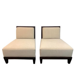 Barbara Barry Hbf Carmel Armless Chair- a Pair For Sale