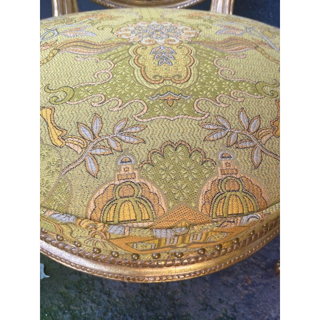 19th C. English Giltwood Armchairs - a Pair For Sale - Image 11 of 13