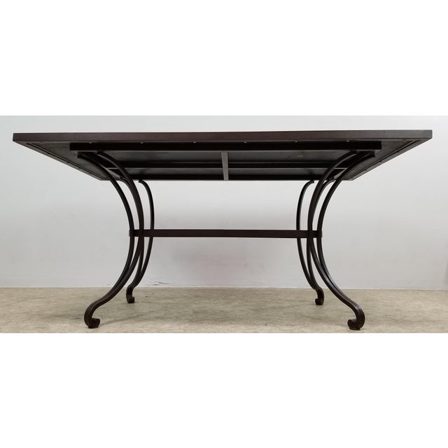 Boho Chic Boho Chic Mosaic Fleur-De-Lis Sunburst Tile Top Table For Sale - Image 3 of 13