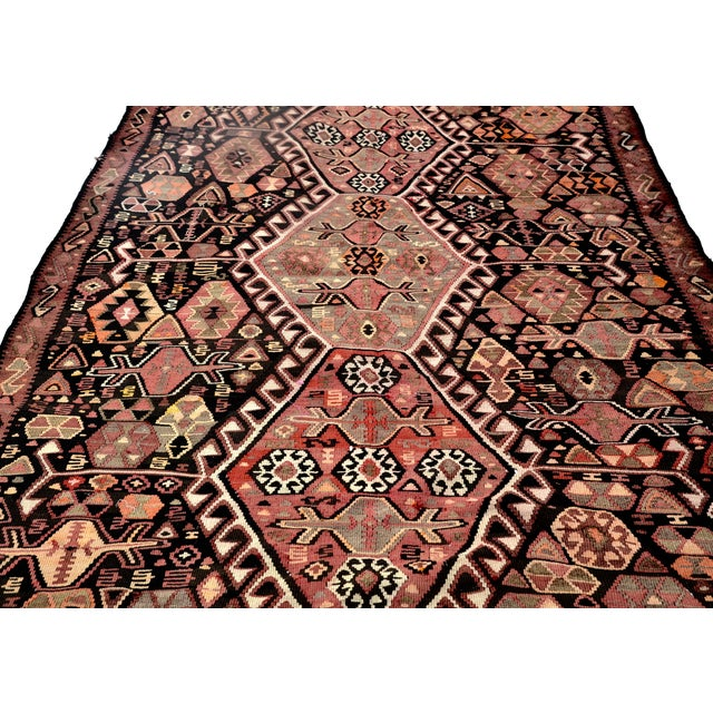 """Traditional Vintage Caucasian Kilim Rug 12'8"""" X 5'8"""" For Sale - Image 3 of 6"""
