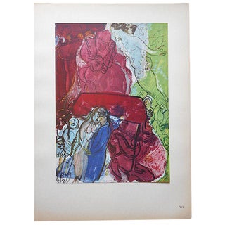 Vintage Marc Chagall Lithograph For Sale