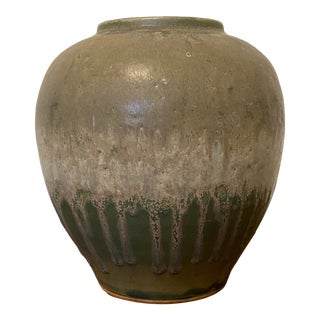 Japanese Mid Century Style Matte Art Pottery Vase For Sale