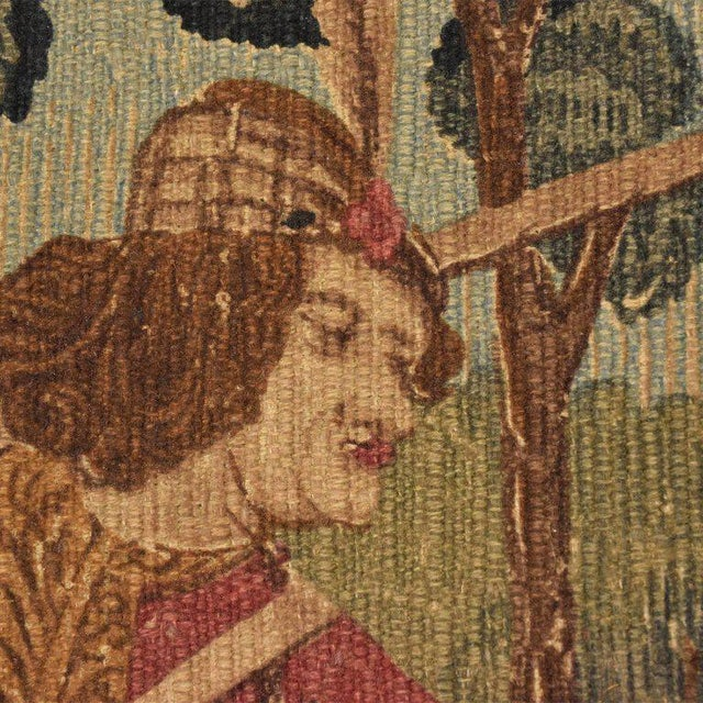 Large Italian Wall Tapestry by Paris Panneaux Gobelins For Sale In San Diego - Image 6 of 12