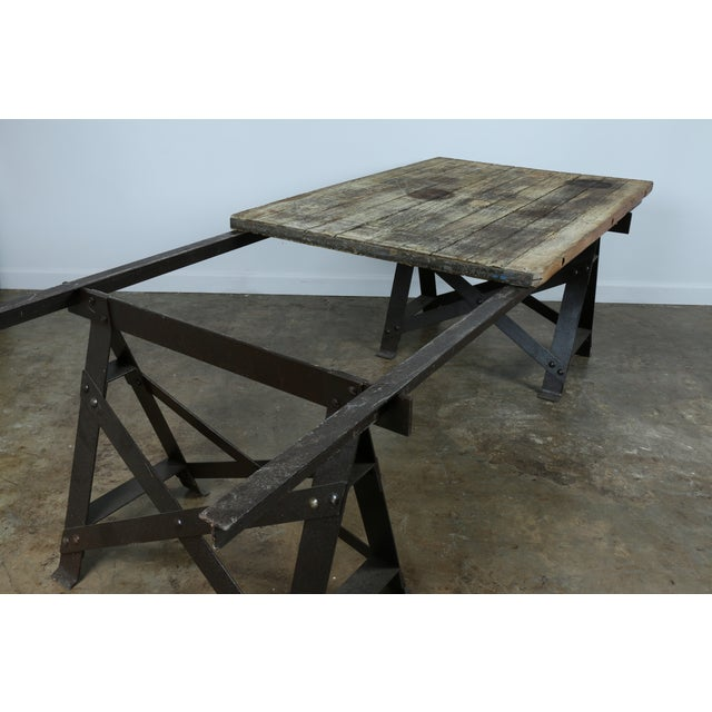 Vintage Industrial Table - Image 9 of 11