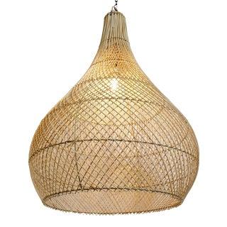 Wicker Rain Drop Lantern For Sale