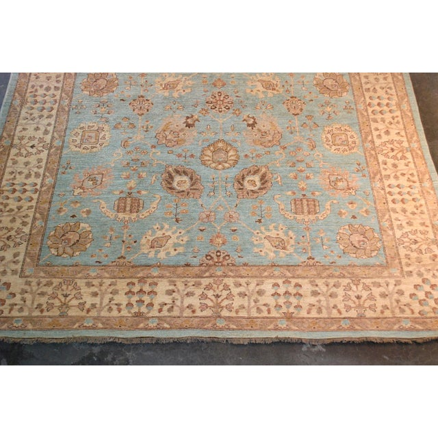 Traditional 20th Century Chobi Blue Rug - 7′11″ × 9′9″ For Sale - Image 3 of 8