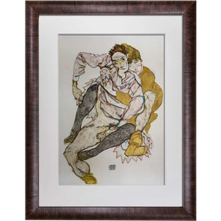 Egon Schiele Couple Limited Edition Lithograph
