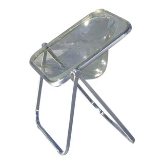 1970s 'Plona' Folding Chair by Giancarlo Piretti for Castelli — Clear For Sale