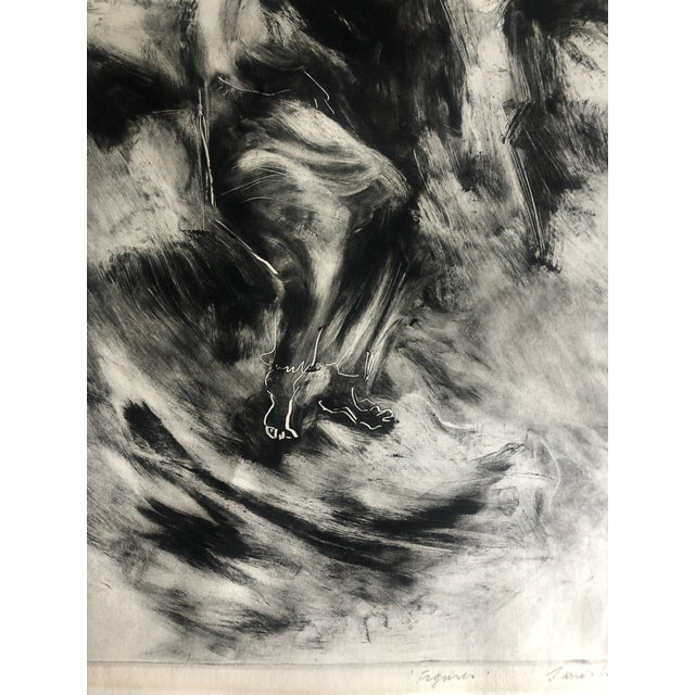 1970s Abstracted Figure Aquatint For Sale - Image 4 of 7