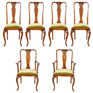 Queen Ann Style Chairs - Set of 6