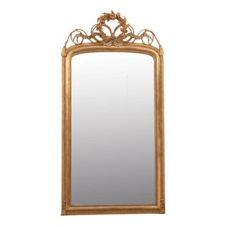 French Early 19th Century Louis XV Style Gold Gilt Mantel Mirror For Sale