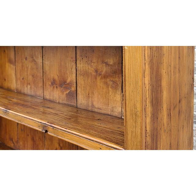 Antique 19th Century Irish Pine 2 Part Chicken Coop Cupboard Cabinet Hutch For Sale - Image 9 of 13