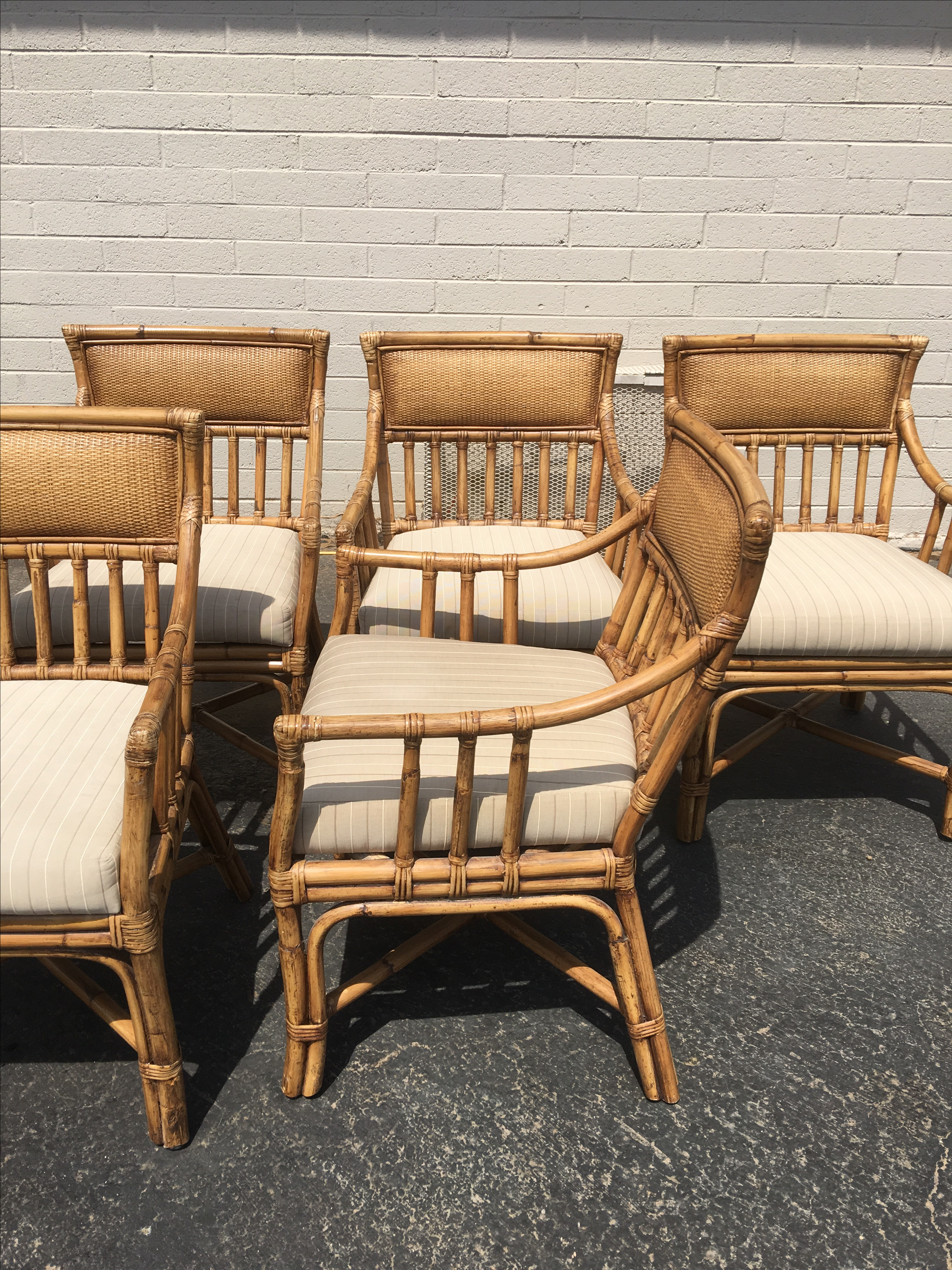 Palecek Bamboo Dining Chairs   Set Of 6   Image 3 Of 5