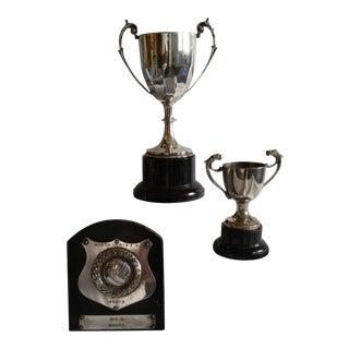 Vintage Soccer Trophies - Set of 3