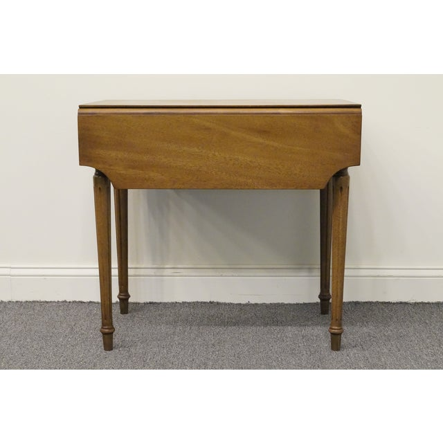 20th Century Traditional Columbia Manufacturing Mahogany Pembroke End Table For Sale - Image 12 of 13