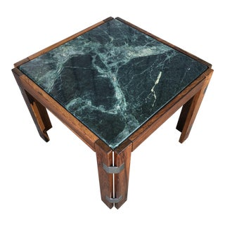 Verde Green Marble Top Side Table