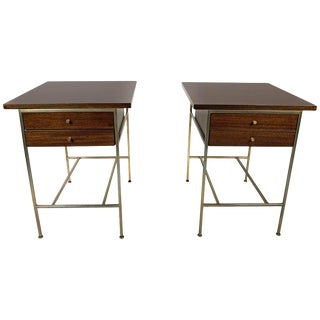 Paul McCobb Irwin Collection Mahogany End Tables or Nightstands - A Pair For Sale