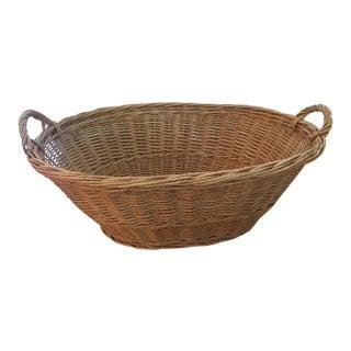 1930s Vintage French Laundry Basket