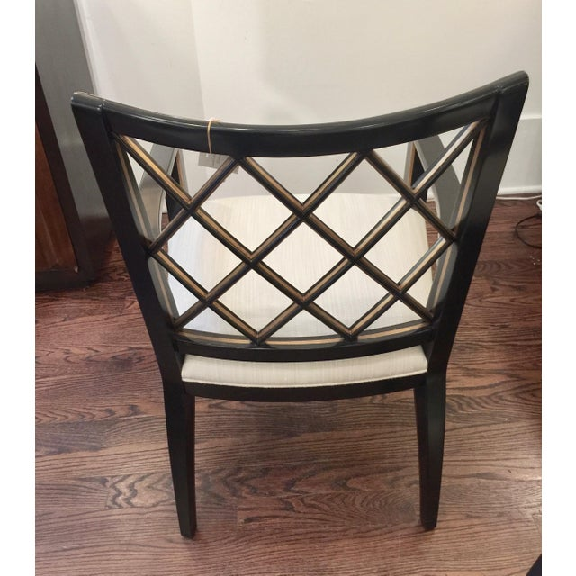 Robert Bryan Home Ebonized Arm Chairs- A Pair - Image 5 of 7