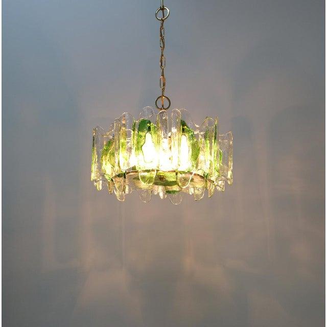 j.t Kalmar Chandelier Fixture With Murano Glass Brass, Austria 1960 For Sale - Image 10 of 12