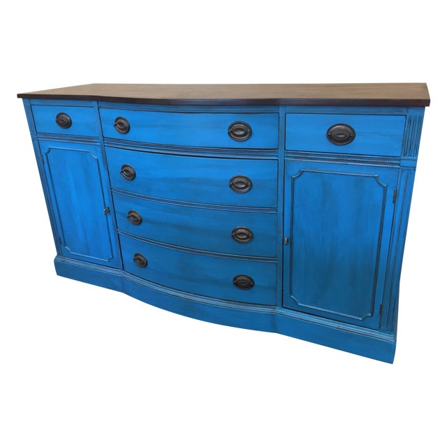 1940s Corinth Blue Credenza - Image 1 of 10