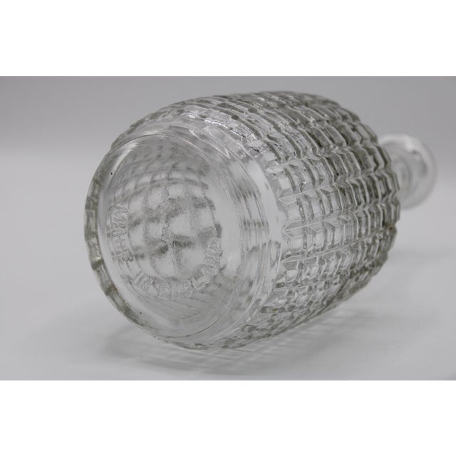 Metal Antique English Crystal Cruet Two Bottle Decanter Set For Sale - Image 7 of 10