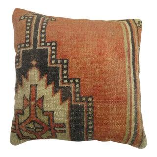 Vintage Turkish Rug Pillow For Sale