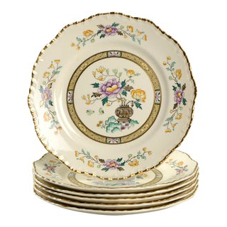 Early 20th Century Mason's Chinese Peony Luncheon Plate - Set of 6 For Sale