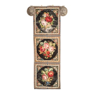 1880 English Needle Point Tapestry Runner For Sale