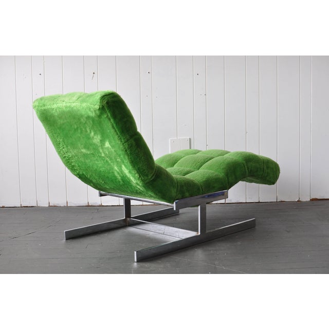 Mid-Century Modern Milo Baughman Style Chaise For Sale - Image 3 of 6
