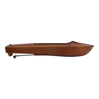 Vintage Wood Handmade Motor Boat Model For Sale