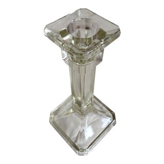Cast Glass Candle Holder For Sale
