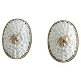 Image of 1980s Valentino Faux-Shell Earrings For Sale