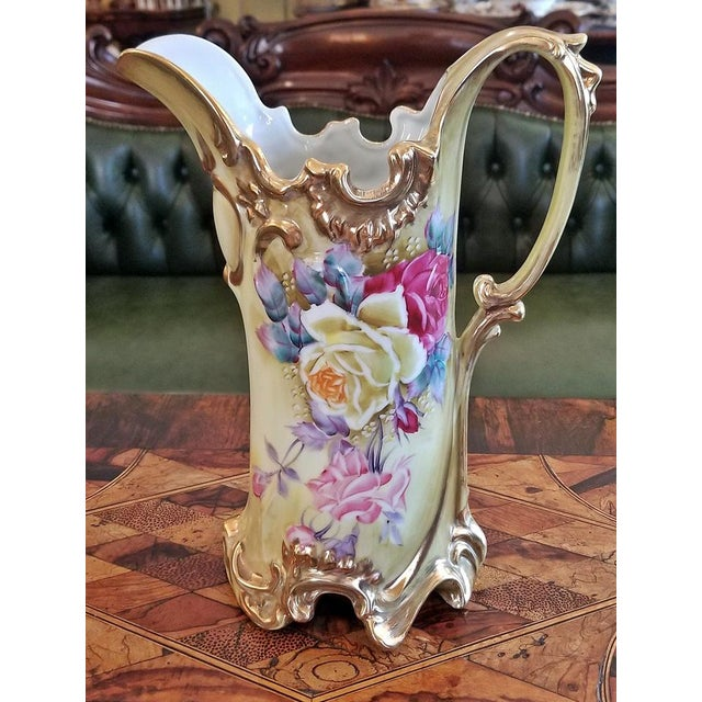 Early 20c Nippon Handpainted Porcelain Pitcher/Jug For Sale - Image 4 of 8