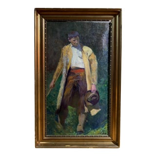 Jan Brázda (1917-2011), Painting of a Rural Boy For Sale