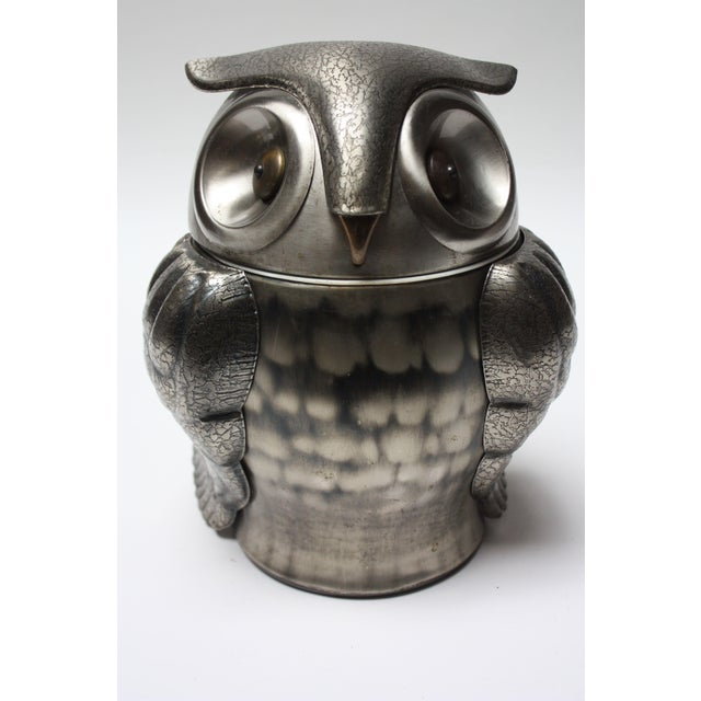 Vintage Japanese Pewtertone Ice Bucket / Cookie Jar For Sale - Image 10 of 13
