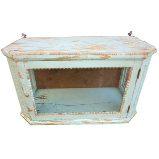 Antique Italian Kitchen Vitrine For Sale
