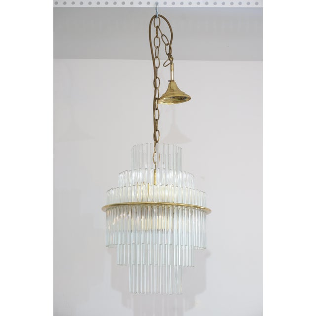 Mid-Century Modern Vintage v. Nason & Co. Chandelier in Murano Glass and Brass For Sale - Image 3 of 13