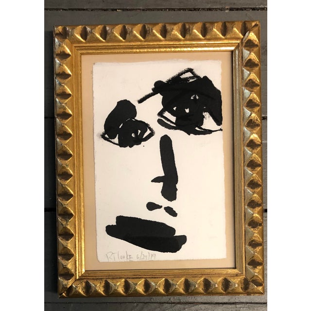 Original Contemporary Robert Cooke Small Face Painting For Sale - Image 4 of 4